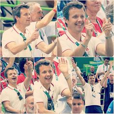 Sunday, a very animated Crown Prince Frederik was seen getting into the Olympic Spirit at the men's handball. He sat alongside the Danish Minister for Culture and Sport of Denmark, Bertel Haarder, and both was seen standing up and cheering as the men's handball team was beating Argentina - the Prince whistling and yelling out as the game progressed.  Now that's true national spirit!  #olympics2016 #rio2016 #crownprincefrederik #kronprinsfrederik #bertelhaarder #komsådanm...