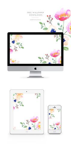 free floral wallpaper by somethingpeach.com