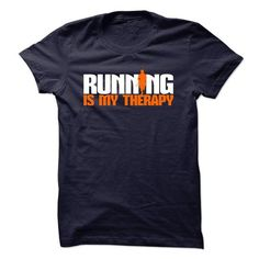 Running Is My Therapy T Shirts, Hoodies. Check price ==► https://www.sunfrog.com/Funny/Running-Is-My-Therapy-Ladies.html?41382 $19