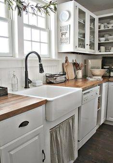 35 Best Rustic Farmhouse Kitchen Cabinets Ideas