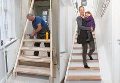 Billedresultat for trappe løsning lavt til loft Home Furniture, Furniture Design, Stair Storage, Under Stairs, Sustainable Living, Room Inspiration, Small Spaces, New Homes, House Design