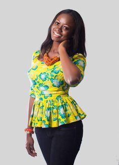 Top made with African Print Miss Malaika Ghana 2013