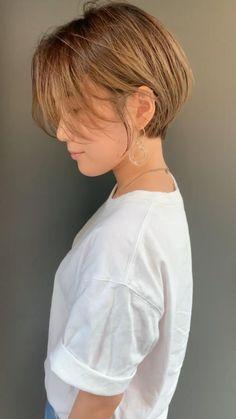 Short White Hair, Asian Short Hair, Short Wavy Hair, Medium Hair Cuts, Medium Hair Styles, Foto Memory, Short Shoulder Length Hair, Short Hair Cuts For Round Faces, Short Hair Undercut