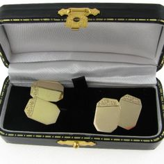 #Gents 9k #Gold #Cufflinks €225 Diamond Engagement Rings, Cufflinks, Pairs, Antiques, Silver, Gold, Vintage, Jewelry, Antiquities