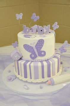 Pink And Lavender Butterflies Baby Shower Decorations | ... Butterflies  That Were Inspired By This Love And Lavender Baby Shower | Baby Girl |  Pinterest ...