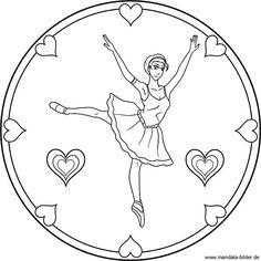 Ballerina Mandala Ballett Ausmalbild Fur Kinder Ausmalbilder Ausmalbilder Mandala Ausmalen