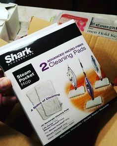 #Damit I was #expectingsomethingelse its #shark #steampocketmop #microfiber #cleaningPads to keep the #kitchenClean
