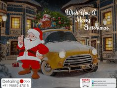 Happy Christmas from Detailing at Door  #MerryChristmas #CarWash  #CarCare  #ClassTreatment  #DetailingAtDoor  #PaintProtectionCoating  W:http://www.sonax.com/   M:+91 9888247515