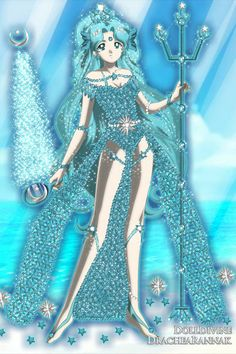 DIOSA DEL MAR AZUL, PRINCESA NEPTUNO ~ by ETERNALPRINCESS ~ created using the Sailor Senshi doll maker | DollDivine.com