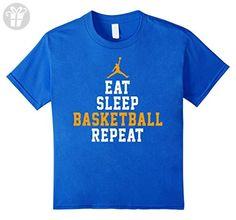 Kids Eat Sleep Basketball Repeat Shirt, Love Basketball Gift 6 Royal Blue (*Amazon Partner-Link)