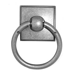 Knobs4Less.com Offers: Alno ALN-53525 ring pull Dark Iron Alno Creations Cabinet Hardware - Eclectic Collection