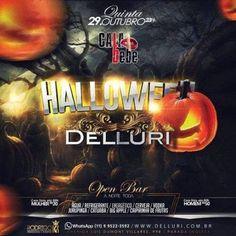 Mais uma super festa Open Bar na Delluri. Festa Especial de Halloween. Coloque seu nome na lista pelo link: http://www.baladassp.com.br/balada-sp-evento/Delluri/596 Whats: 95167-4133