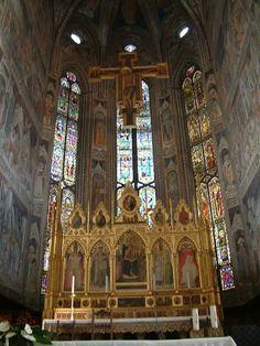 notizie  G.M.  guido michi: CAPPELLA MAGGIORE- La croce dipinta è del Maestro ...