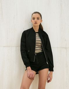 Bomber jacket. Discover this and many more items in Bershka with new products every week