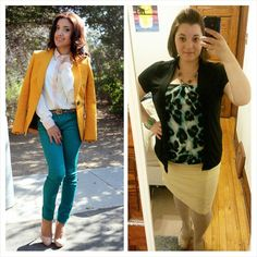 #ChubbyChique 1-6-2015 #ootd #JanuaryPinnedItSpinnedIt Teal and mustard inspiration