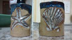 rustic seashells on sponge holders