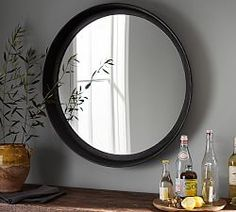 Shop Pottery Barn for decorative mirrors that feature simple designs and easy style. Find large, small and round mirrors and create a warm space with reflective light. Round Wall Mirror, Mirror Art, Round Mirrors, Large Mirrors, Decorative Mirrors, Decorative Items, Beaded Mirror, Cool Mirrors, Furniture Slipcovers