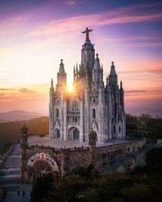 Expiatory Church of The Sacred Heart of Jesus on The Summit of Mount Tibidabo, Barcelona