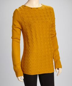 Take a look at this Mustard Studded Sweater by Yoki on #zulily today!  $16.99