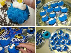 Cookie Monster Cupcakes  November 2: Cookie Monster's Birthday  Admit it! We are all kids at heart and have a little cookie (or dessert) monster inside of us. The lovable, googly-eyed, ...