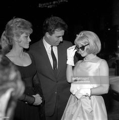 """Sheri Nelson, Vince Edwards and Sue Lyon attend the movie premiere of """"Lolita"""" in Los Angeles,CA. Get premium, high resolution news photos at Getty Images Vince Edwards, Sue Lyon, Stanley Kubrick, In Loving Memory, Film Director, Classic Hollywood, Falling In Love, Art Drawings, Delicate"""