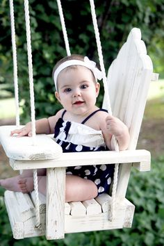 Wooden baby swing or toddler swing