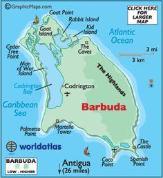 map of Antigua and Barbuda