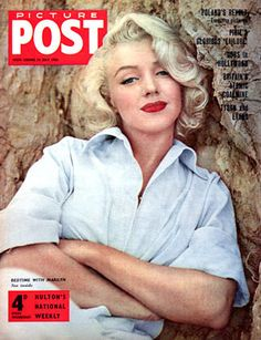 Picture Post - June 1956, United Kingdom magazine. Lovely front cover photo of Marilyn Monroe by Milton H. Greene, 1953