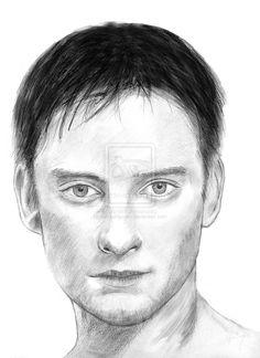 Drawing Tobey Maguire by carlosirigoyen.deviantart.com on @deviantART