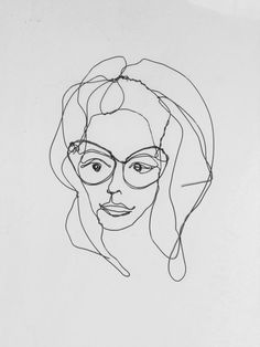 Wire wall art: A beautiful woman on a sunny day Portrait of woman made with…