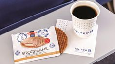 Forget the waffel, give me a comfortable seat! United Airlines stroopwafel