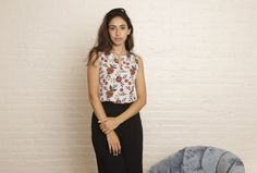 The Lina Top in Autumn Floral