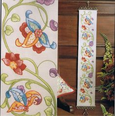Embroidery Bellpull - Jacobean Bellpull Embroidery Kit From Anchor PE614 | eBay