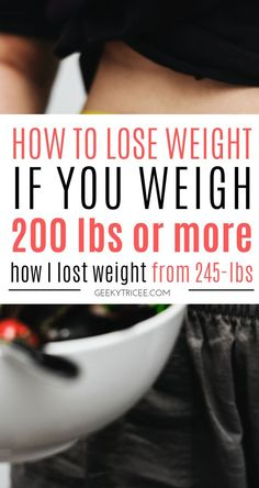 How to simply lose weight if you weigh 200 lbs or more 6 simple weight loss tips for losing weight if you weight over 200 lbs. My weight loss transformation started at 245 pounds. This is how started my weight loss transformation. // weight loss tips that Lose Weight Quick, Diet Food To Lose Weight, Fast Weight Loss Plan, How I Lost Weight, Quick Weight Loss Tips, Weight Loss Meals, Losing Weight Tips, Healthy Weight Loss, Reduce Weight