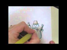 Snowman Distress Marker Coloring Tutorial