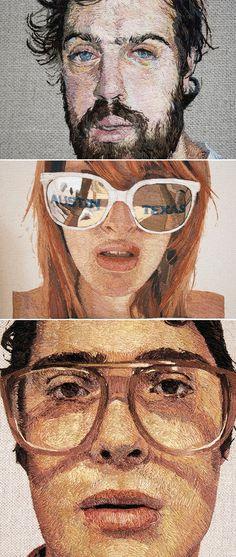 Daniel Kornrumpf – Embroidered Portraits