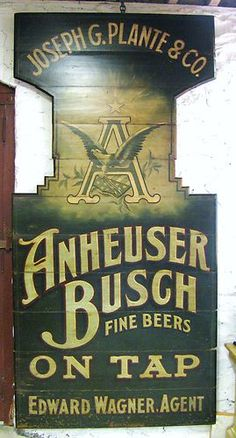 beer trade sign