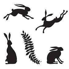 hare silhouette to help me make a cushion.