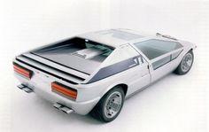 Maserati Boomerang concept car designed by Giorgetto Giugiaro in 1971.