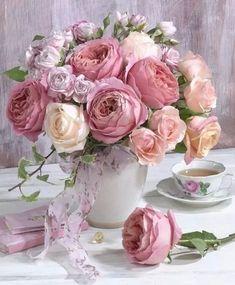 New Flowers Roses Bouquet Floral Arrangements Ideas Beautiful Flower Arrangements, Fresh Flowers, Pretty Flowers, Floral Arrangements, Deco Floral, Arte Floral, Ikebana, Pink Roses, Pink Flowers
