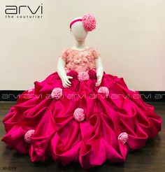 Little Girl Pageant Dresses, Baby Girl Dresses, Flower Girl Dresses, Baby Dress Design, Frock Design, Bridal Outfits, Bridal Gowns, Bridal Lehenga, Kids Gown