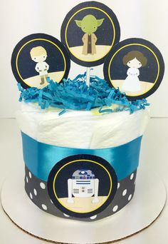 Our Star Wars Inspired 1 Layer Diaper Cake Will Make A Great Addition To  The Star Wars Baby Shower. Included: + 10 Pampers Diapers Swaddlers Size 1  + Star ...