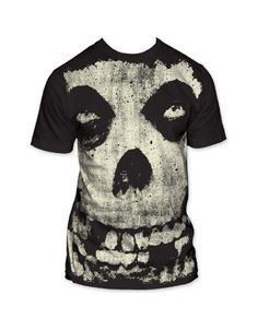 The Misfits Allover Misfits Skull Big Print Mens T-Shirt