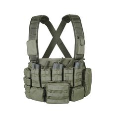Voodoo Tactical's fully adjustable chest rig/plate carrier has an easy access…