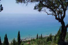 agios gordios beach, corfu Agios Gordios, Going On A Trip, Corfu, To Go, Mountains, Beach, Nature, Travel, Naturaleza
