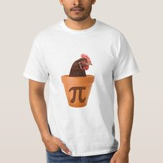 Shop Chicken Pot Pi (and I don't care) T-Shirt created by The_Shirt_Yurt. Personalize it with photos & text or purchase as is! Pi T Shirt, Tee Shirts, Tees, Jogging, Science Geek, Geek Chic, Courses, Tshirts Online, Shirt Outfit