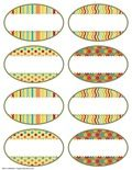 Brights Oval Labels