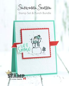 Stampin' Up! Stamped Christmas Cards, Stampin Up Christmas, Christmas Cards To Make, Christmas Greeting Cards, Greeting Cards Handmade, Holiday Cards, Christmas Snowman, Christmas Ideas, Fancy Fold Cards