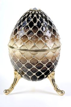 Faberge Easter Egg. (Looks like Snake Skin- Ugh !) Not the prettiest of Fab-Eggs or his artwork.