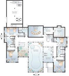 Luxury Floor Plans | Lower Floor Plan of Coastal Contemporary House Plan 65567